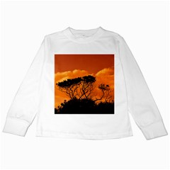 Trees Branches Sunset Sky Clouds Kids Long Sleeve T Shirts