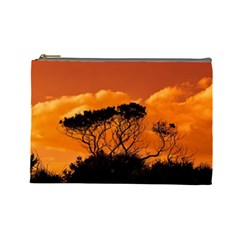 Trees Branches Sunset Sky Clouds Cosmetic Bag (large)  by Celenk