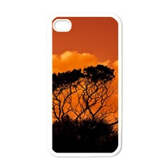 Trees Branches Sunset Sky Clouds Apple Iphone 4 Case (white) by Celenk