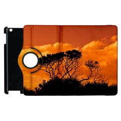 Trees Branches Sunset Sky Clouds Apple Ipad 3/4 Flip 360 Case by Celenk