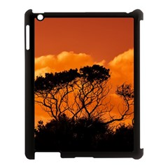Trees Branches Sunset Sky Clouds Apple Ipad 3/4 Case (black) by Celenk
