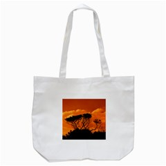 Trees Branches Sunset Sky Clouds Tote Bag (white)
