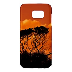 Trees Branches Sunset Sky Clouds Samsung Galaxy S7 Edge Hardshell Case by Celenk