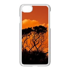 Trees Branches Sunset Sky Clouds Apple Iphone 8 Seamless Case (white) by Celenk