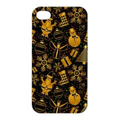 Christmas Background Apple Iphone 4/4s Premium Hardshell Case by Celenk