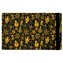 Christmas Background Apple Ipad 3/4 Flip Case by Celenk