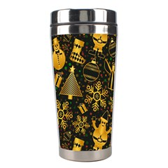 Christmas Background Stainless Steel Travel Tumblers by Celenk
