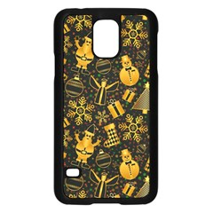 Christmas Background Samsung Galaxy S5 Case (black) by Celenk