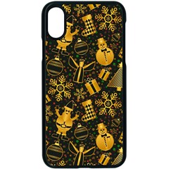 Christmas Background Apple Iphone X Seamless Case (black) by Celenk