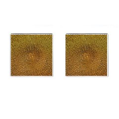 Background Gold Pattern Structure Cufflinks (square)