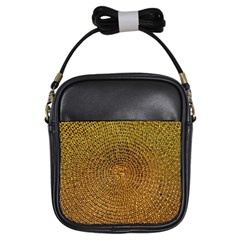 Background Gold Pattern Structure Girls Sling Bags