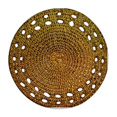 Background Gold Pattern Structure Round Filigree Ornament (two Sides)