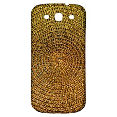 Background Gold Pattern Structure Samsung Galaxy S3 S Iii Classic Hardshell Back Case by Celenk