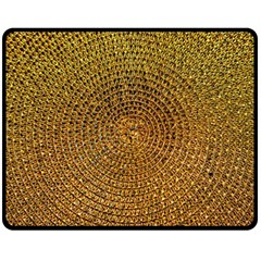 Background Gold Pattern Structure Double Sided Fleece Blanket (medium)  by Celenk