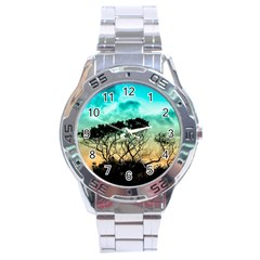 Trees Branches Branch Nature Stainless Steel Analogue Watch by Celenk