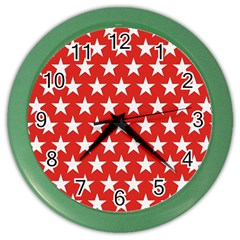 Star Christmas Advent Structure Color Wall Clocks by Celenk