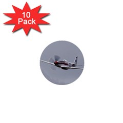P 51 Mustang Flying 1  Mini Buttons (10 Pack)  by Ucco
