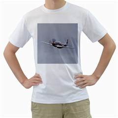 P 51 Mustang Flying Men s T Shirt (white) (two Sided) by Ucco