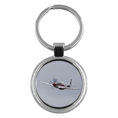 P 51 Mustang Flying Key Chains (round)  by Ucco
