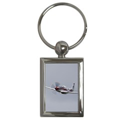 P 51 Mustang Flying Key Chains (rectangle)  by Ucco