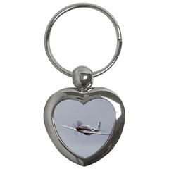 P 51 Mustang Flying Key Chains (heart)  by Ucco