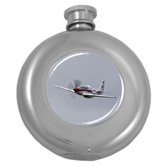 P 51 Mustang Flying Round Hip Flask (5 Oz) by Ucco