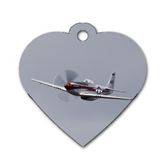 P 51 Mustang Flying Dog Tag Heart (two Sides) by Ucco