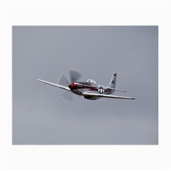 P 51 Mustang Flying Small Glasses Cloth (2 Side)