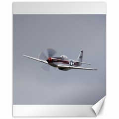 P 51 Mustang Flying Canvas 11  X 14