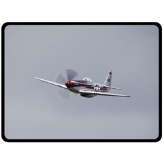 P 51 Mustang Flying Fleece Blanket (large)  by Ucco