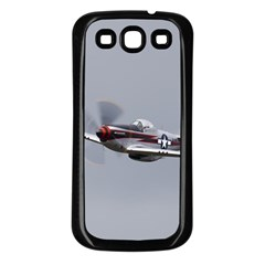 P-51 Mustang Flying Samsung Galaxy S3 Back Case (black) by Ucco
