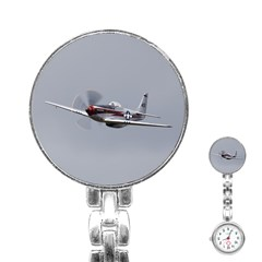 P 51 Mustang Flying Stainless Steel Nurses Watch by Ucco