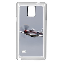 P-51 Mustang Flying Samsung Galaxy Note 4 Case (white) by Ucco