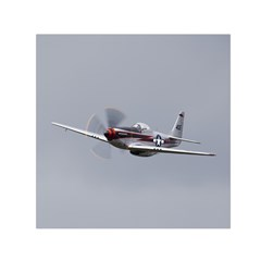 P 51 Mustang Flying Small Satin Scarf (square) by Ucco
