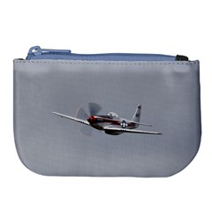 P 51 Mustang Flying Large Coin Purse by Ucco