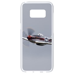 P 51 Mustang Flying Samsung Galaxy S8 White Seamless Case by Ucco