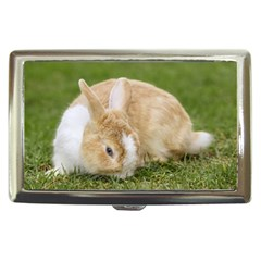 Beautiful Blue Eyed Bunny On Green Grass Cigarette Money Cases by Ucco