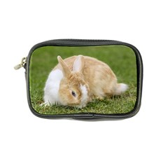 Beautiful Blue Eyed Bunny On Green Grass Coin Purse by Ucco