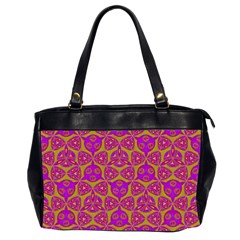 Sacred Geometry Hand Drawing Office Handbags (2 Sides)  by Cveti