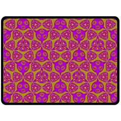 Sacred Geometry Hand Drawing Fleece Blanket (large)  by Cveti