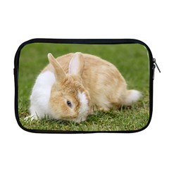 Beautiful Blue Eyed Bunny On Green Grass Apple Macbook Pro 17  Zipper Case by Ucco