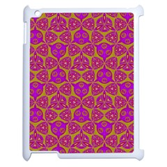 Sacred Geometry Hand Drawing Apple Ipad 2 Case (white) by Cveti
