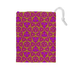 Sacred Geometry Hand Drawing Drawstring Pouches (large)  by Cveti