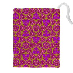 Sacred Geometry Hand Drawing Drawstring Pouches (xxl) by Cveti
