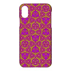 Sacred Geometry Hand Drawing Apple Iphone X Hardshell Case by Cveti