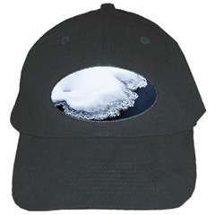 Ice, Snow And Moving Water Black Cap by Ucco