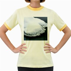 Ice, Snow And Moving Water Women s Fitted Ringer T-shirts by Ucco