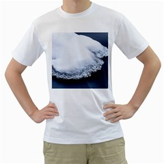 Ice, Snow And Moving Water Men s T-shirt (white) (two Sided)