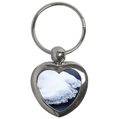 Ice, Snow And Moving Water Key Chains (heart)