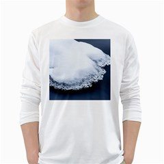 Ice, Snow And Moving Water White Long Sleeve T-shirts